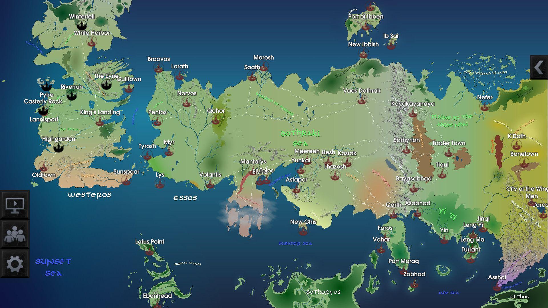 1920x1080 Westeros Map hình nền