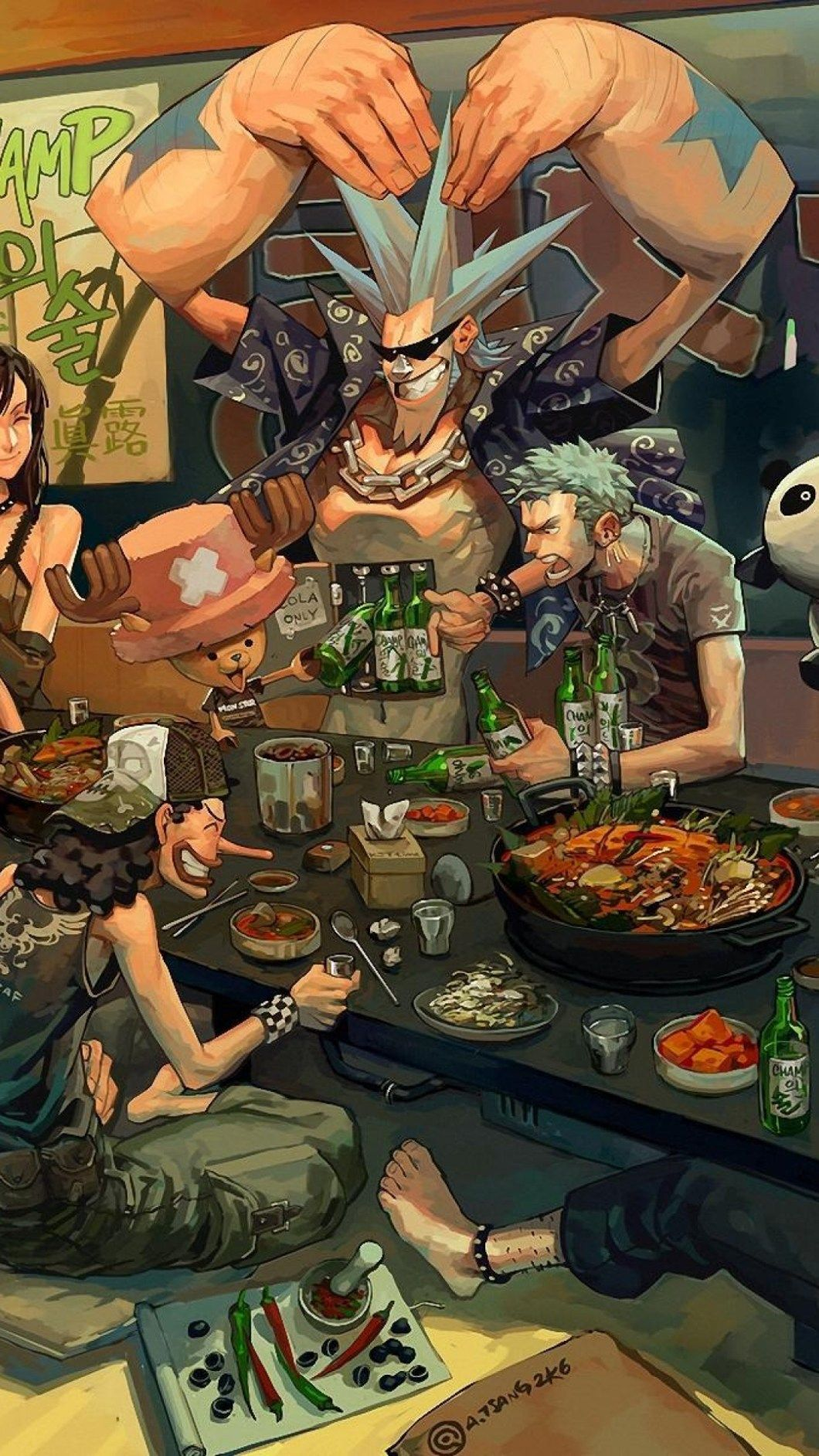 1060x1884 Hình Nền One Piece HD iPhone 4
