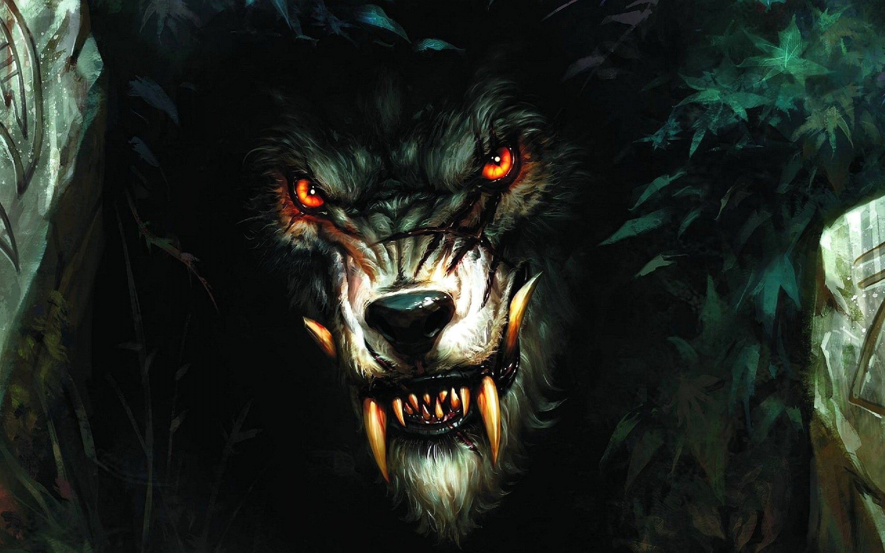 Evil Wolves Wallpapers Top Free Evil Wolves Backgrounds Wallpaperaccess