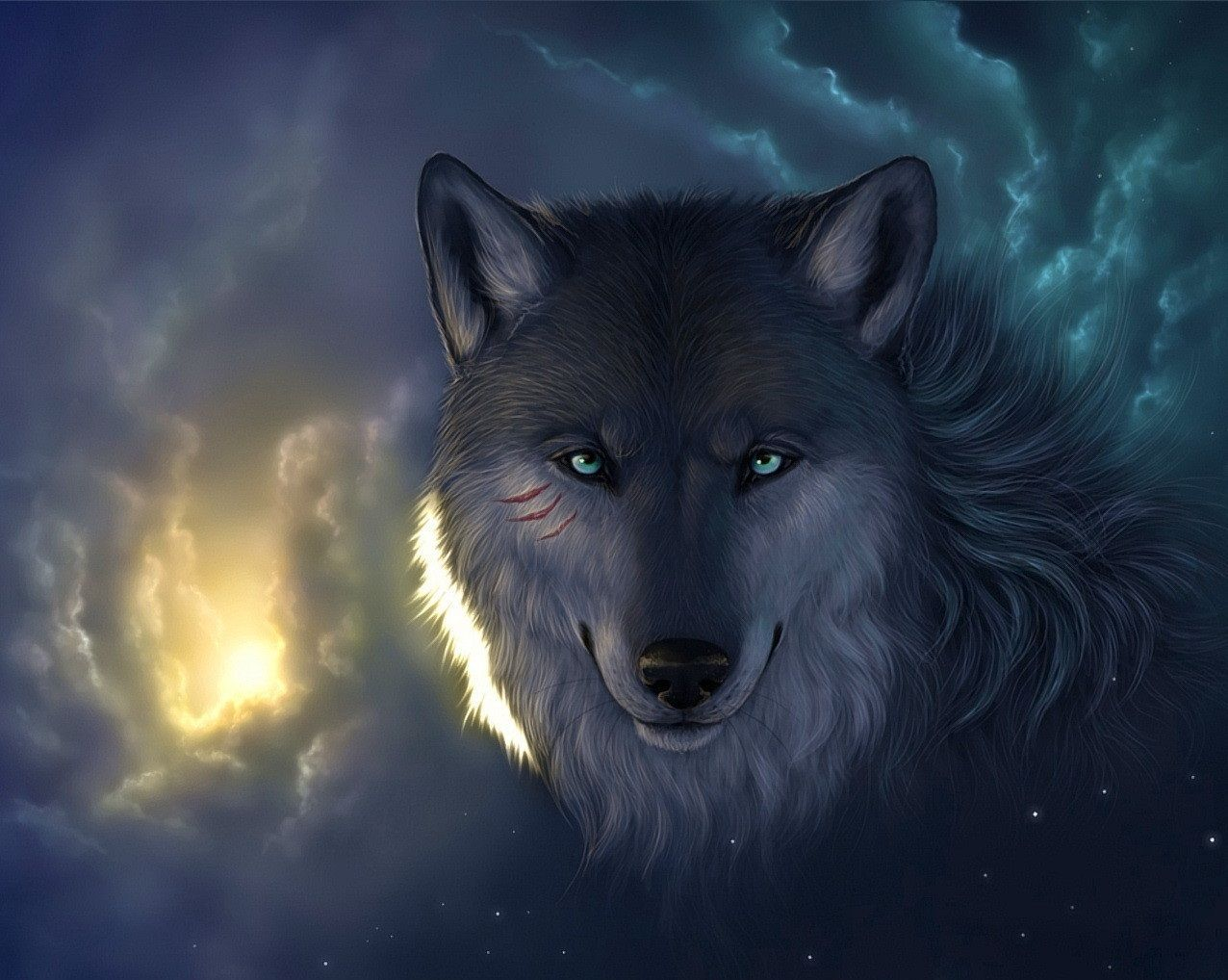 1150x1449 Cool Wolf Paintings  C2 B7 Download