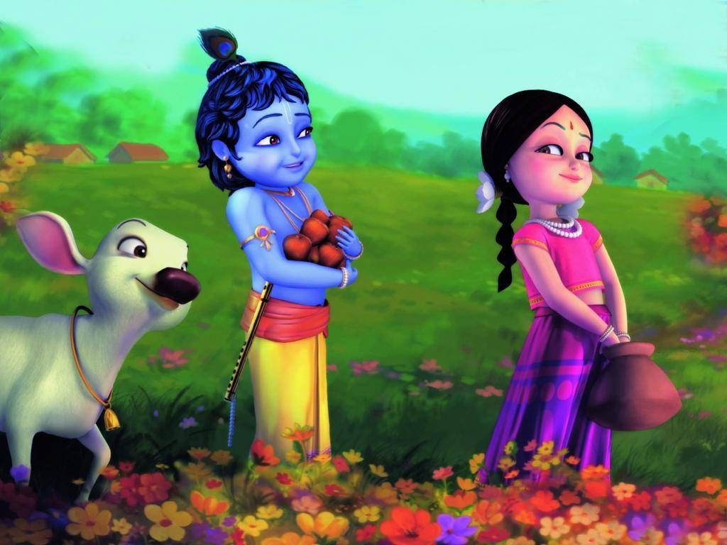 Little Krishna 3d Wallpapers Top Free Little Krishna 3d Backgrounds Wallpaperaccess