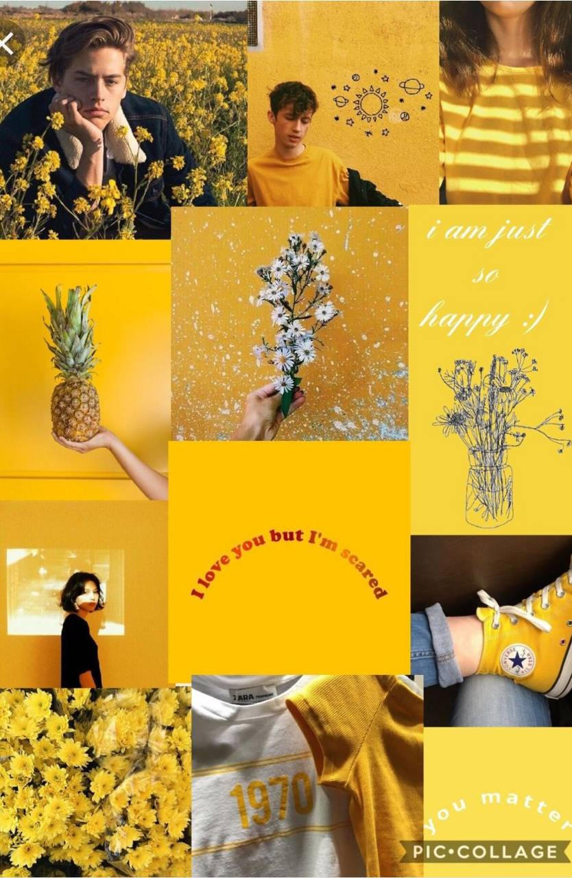 Yellow Aesthetic Collage Wallpapers Top Free Yellow Aesthetic