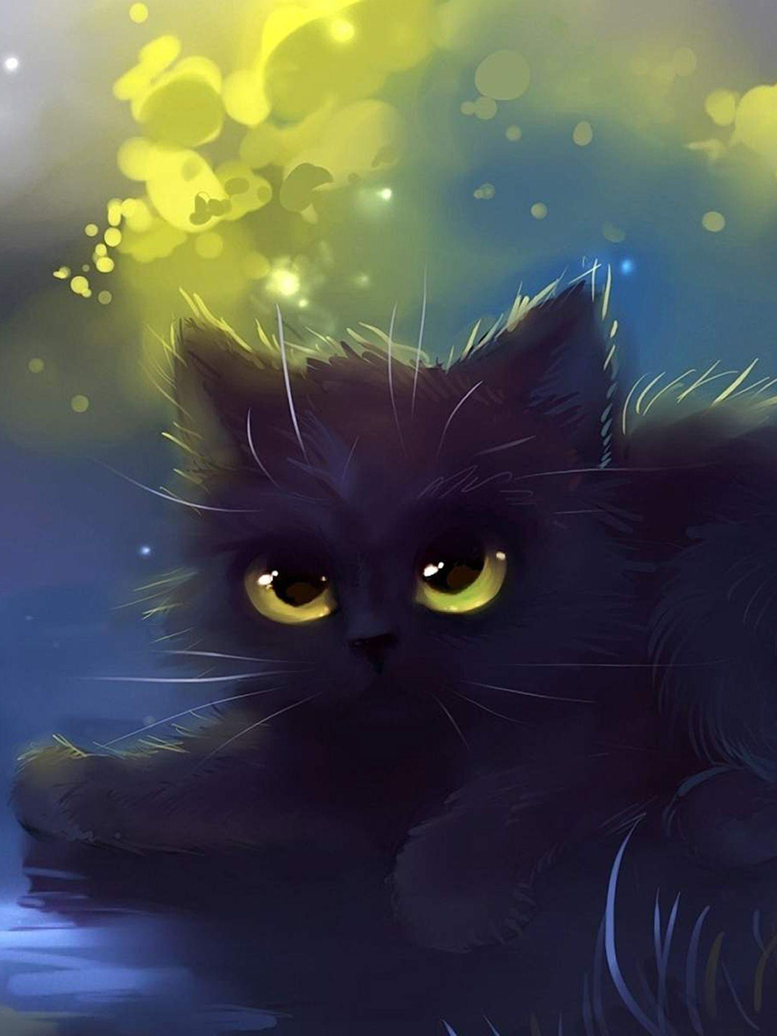 Aesthetic Black Cat Wallpapers Top Free Aesthetic Black Cat Backgrounds Wallpaperaccess