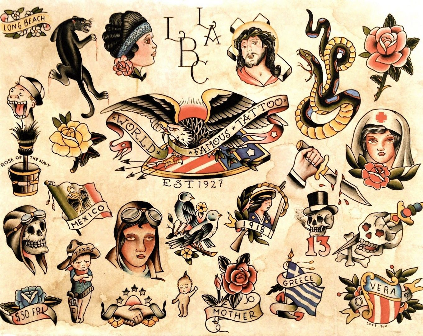 Old School Tattoo Wallpapers Top Free Old School Tattoo Backgrounds Wallpaperaccess