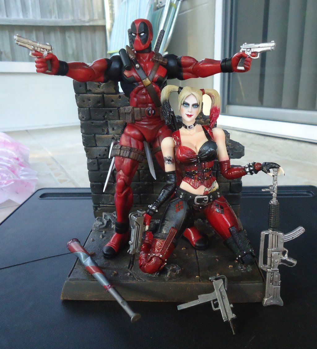 Deadpool and harley quinn wallpapers top free deadpool - Deadpool harley quinn notebook ...