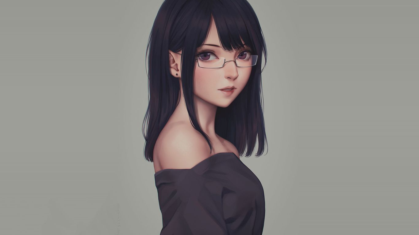 Girl with Glasses Anime Wallpapers   Top Free Girl with Glasses ...