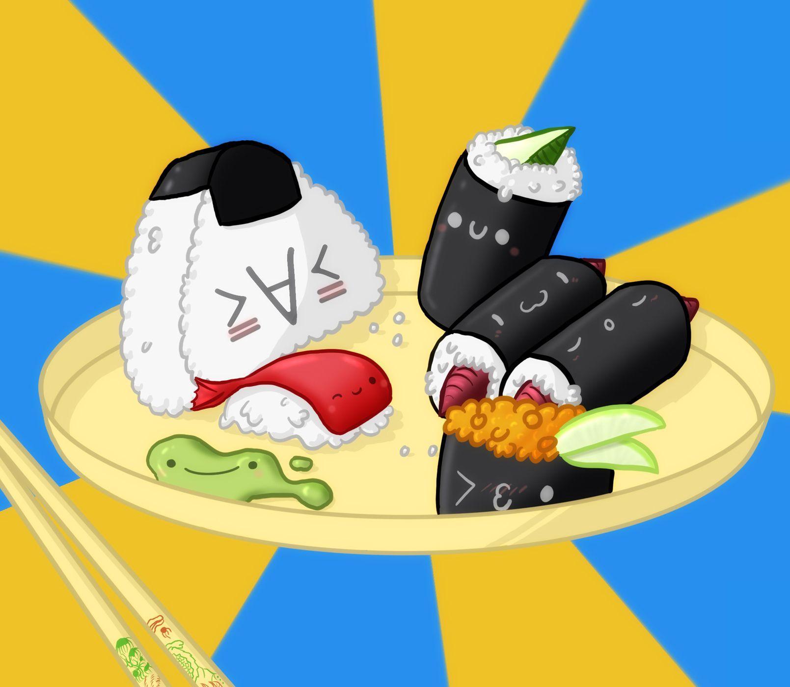 Cute Sushi Wallpapers - Top Free Cute Sushi Backgrounds ...