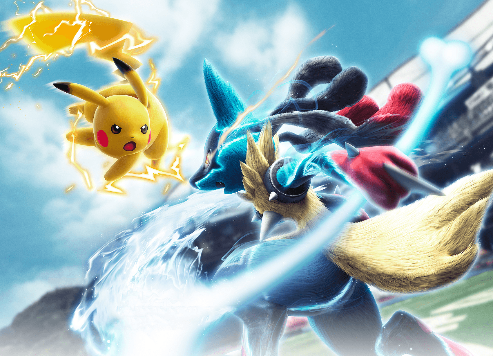 Lucario And Pikachu Wallpapers Top Free Lucario And Pikachu
