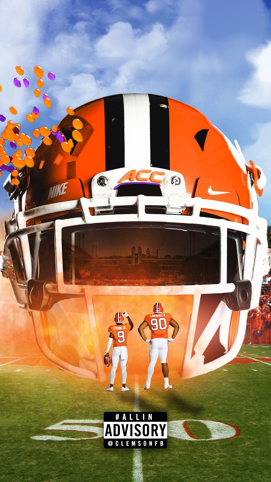 Clemson Tigers Wallpapers Top Free Clemson Tigers Backgrounds Wallpaperaccess