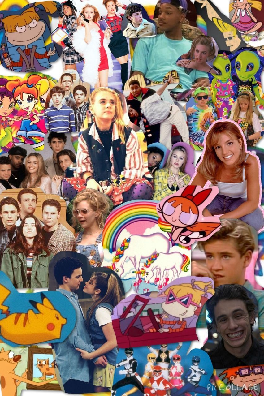 90s Collage Wallpapers Top Free 90s Collage Backgrounds