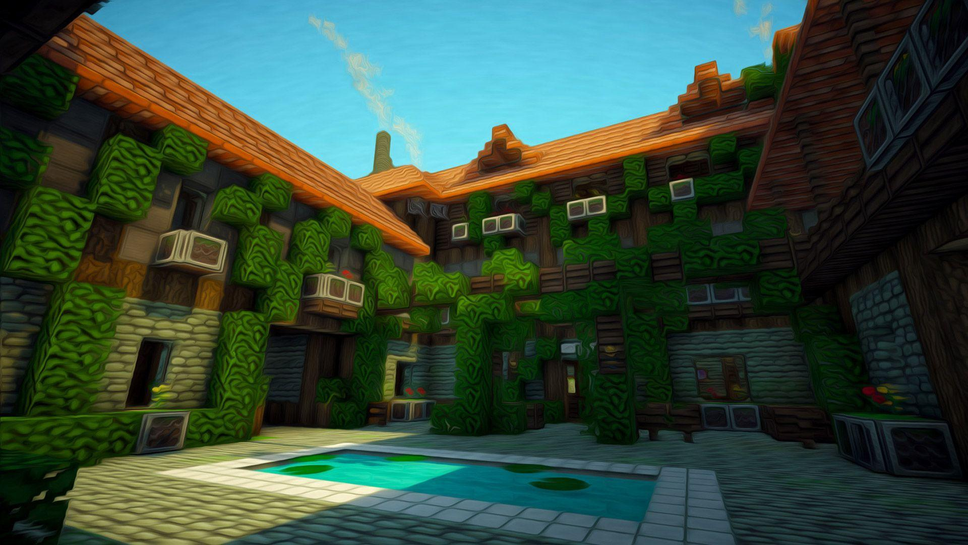 Minecraft House Wallpapers Top Free Minecraft House Backgrounds Wallpaperaccess