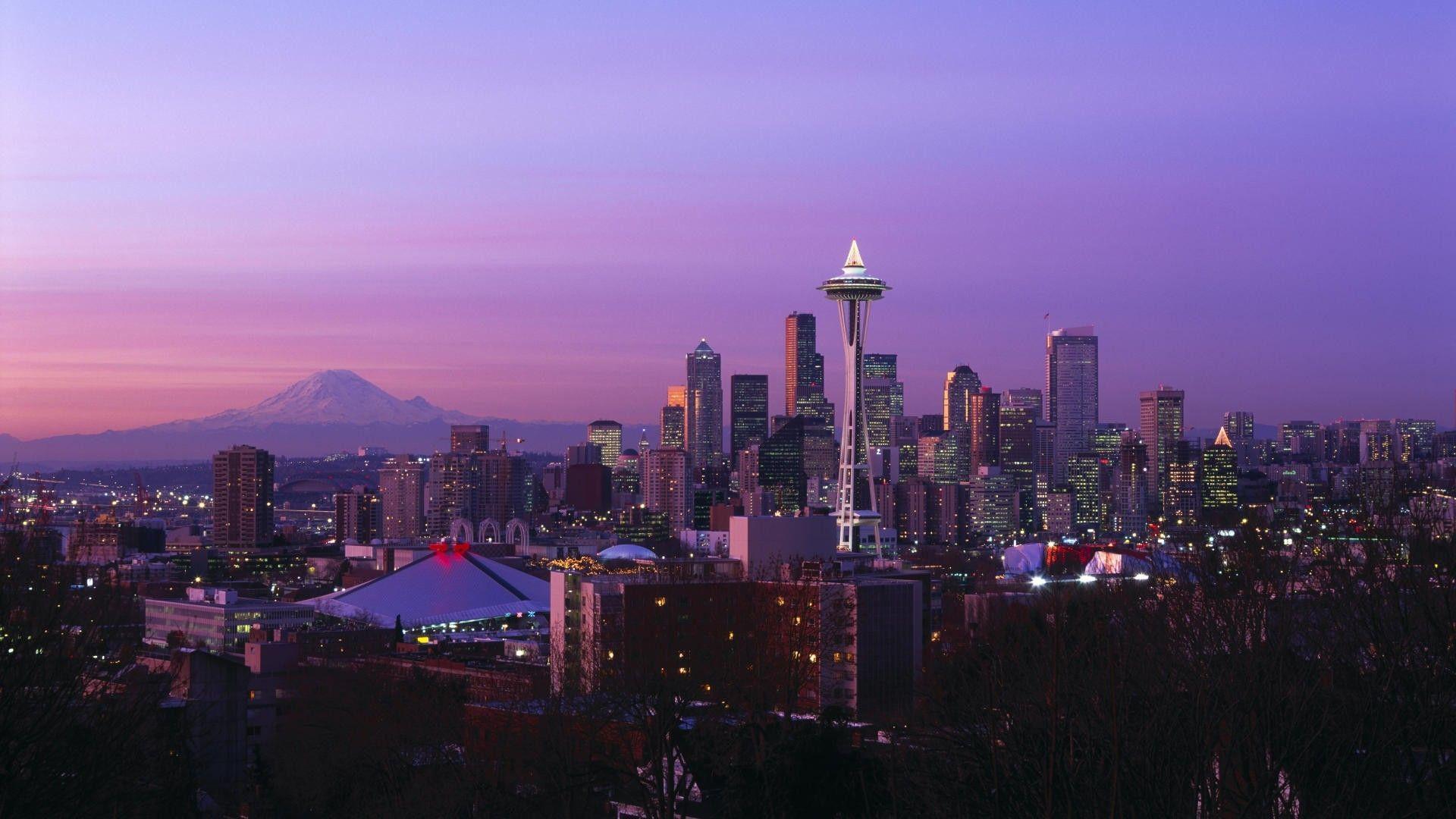 Seattle Skyline Wallpapers Top Free Seattle Skyline Backgrounds Wallpaperaccess