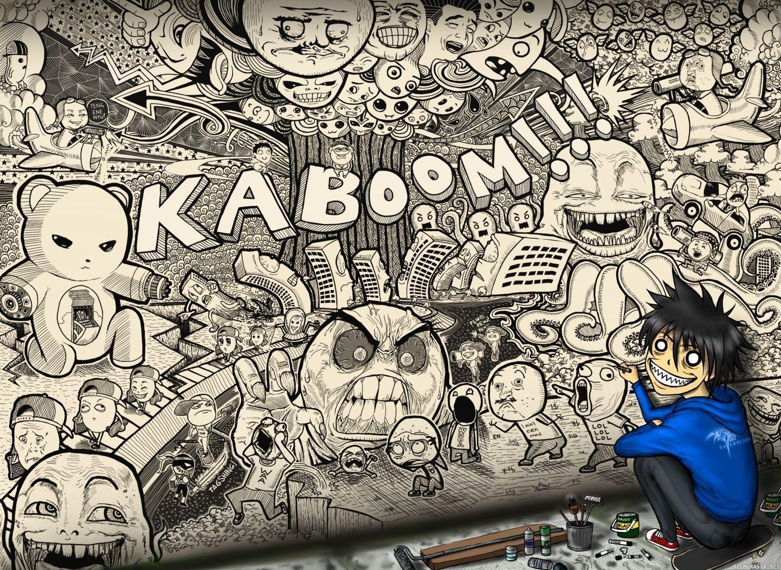 Graffiti Cartoon Wallpapers - Top Free ...