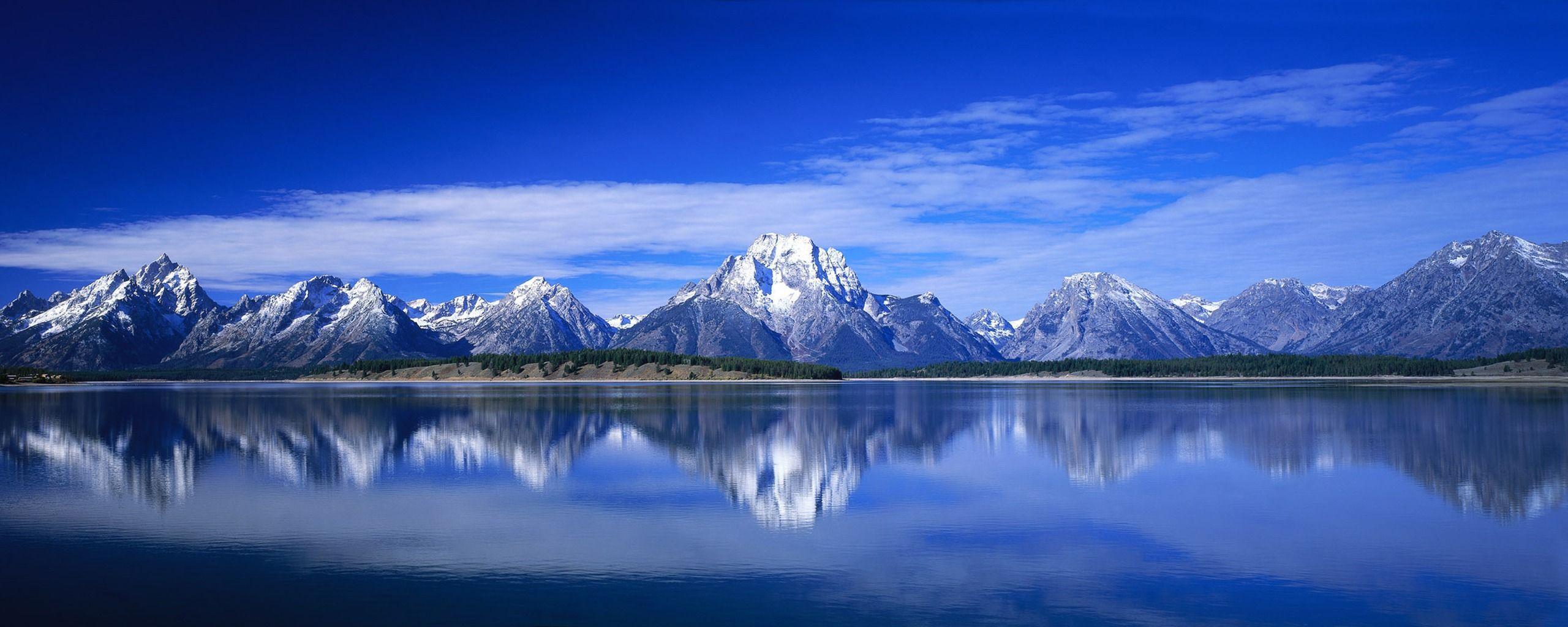 Hình nền màn hình kép 2560x1024 Blue Mountains