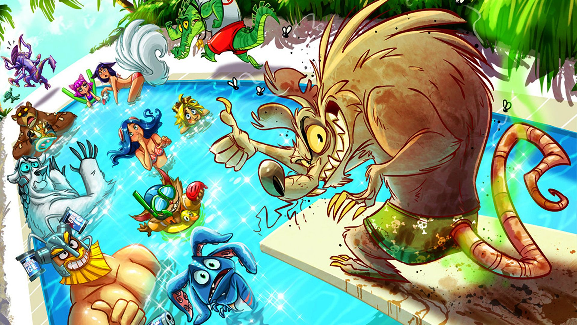 Pool Party Lol Wallpapers Top Free Pool Party Lol Backgrounds