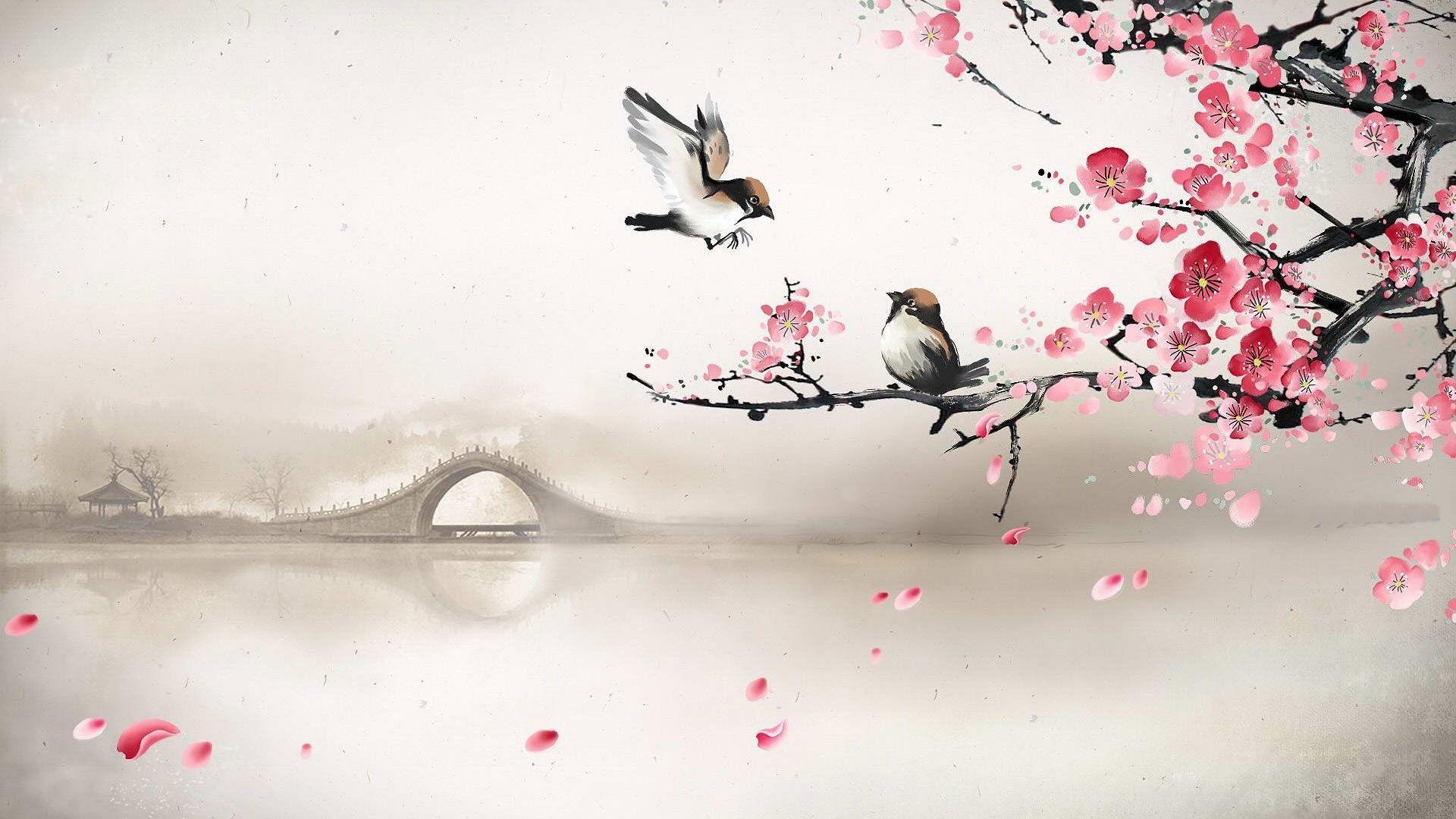Asian desktop background