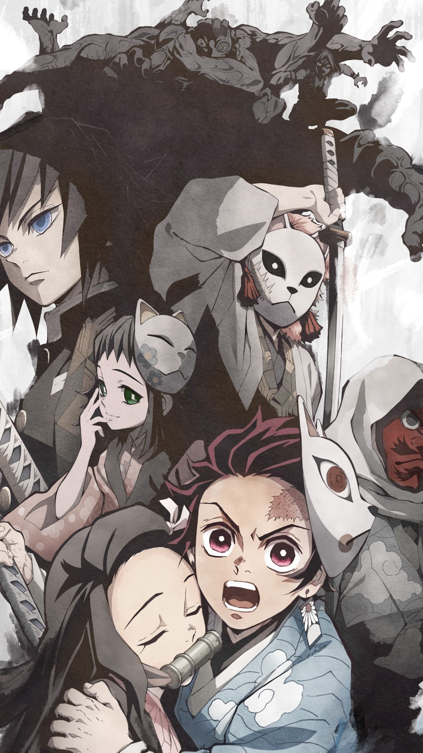 Demon Slayer Wallpaper Neon - Anime Wallpaper HD