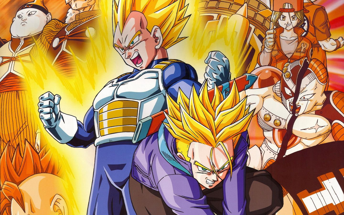 Vegeta And Trunks Wallpapers Top Free Vegeta And Trunks Backgrounds Wallpaperaccess
