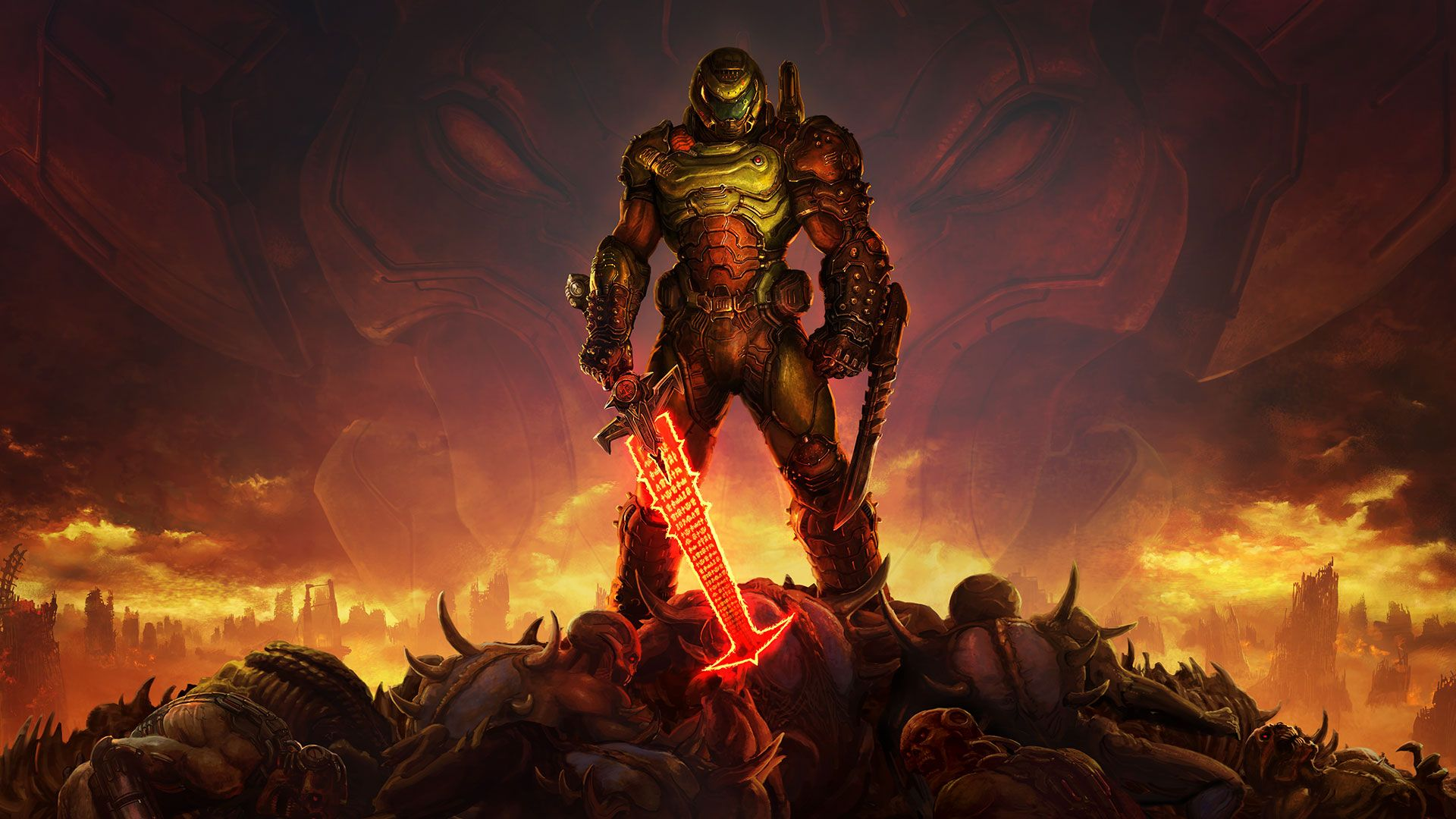 Doom Slayer Wallpapers Top Free Doom Slayer Backgrounds Wallpaperaccess