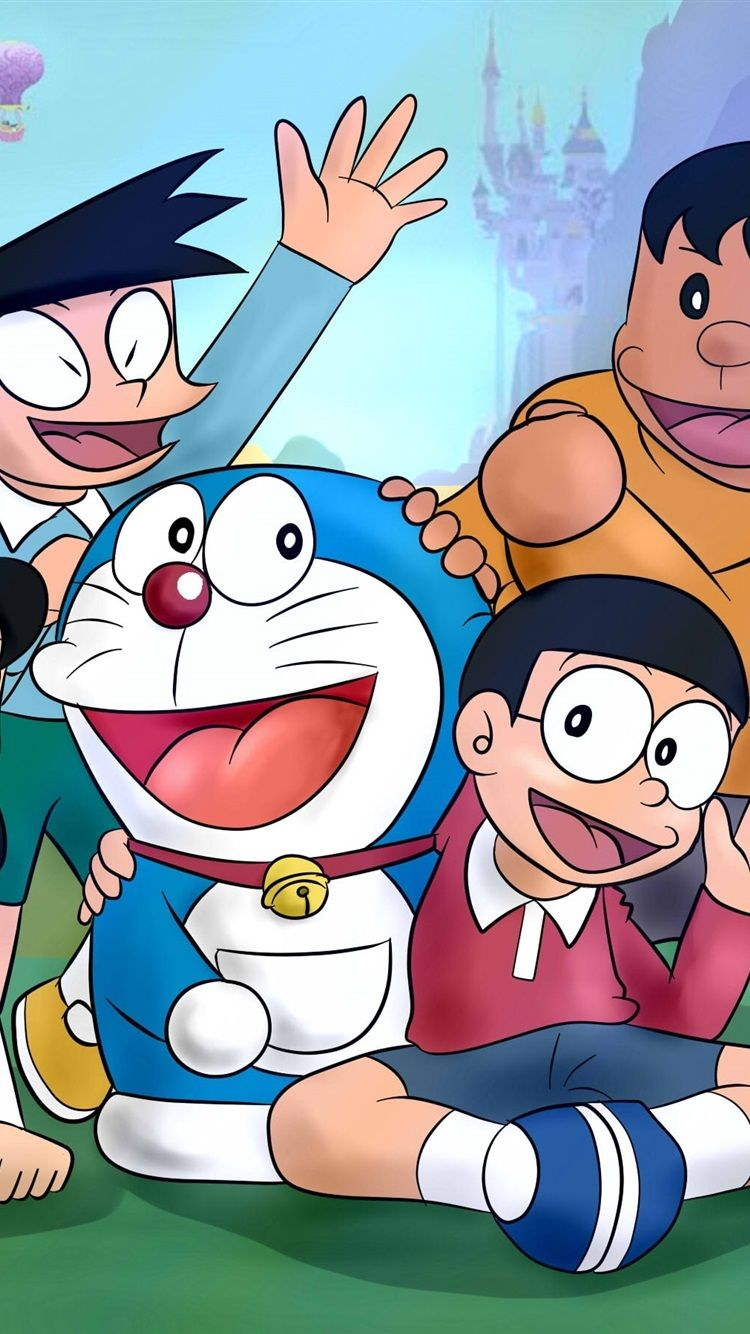 750x1334 Doraemon Cartoon - Tải xuống Hình nền & Nền HD