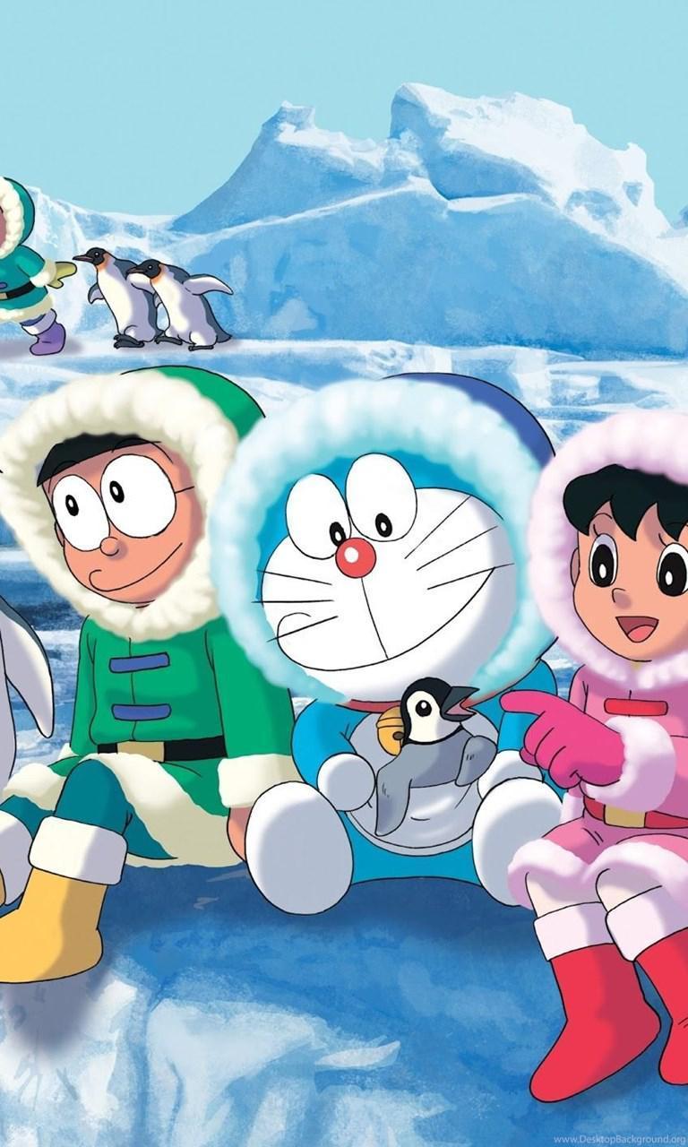 Hình nền Doraemon 768x1280 iPhone