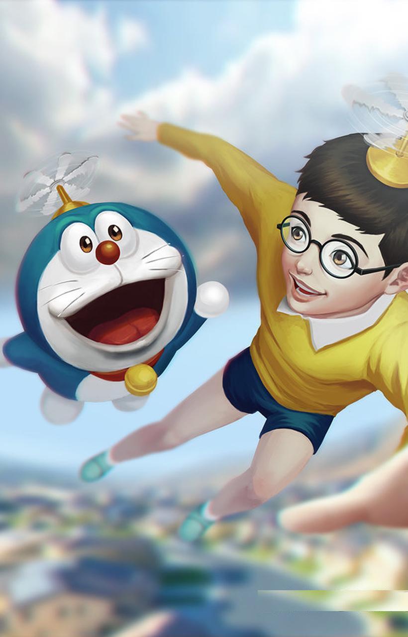 Hình nền Doraemon 820x1280 dành cho Android