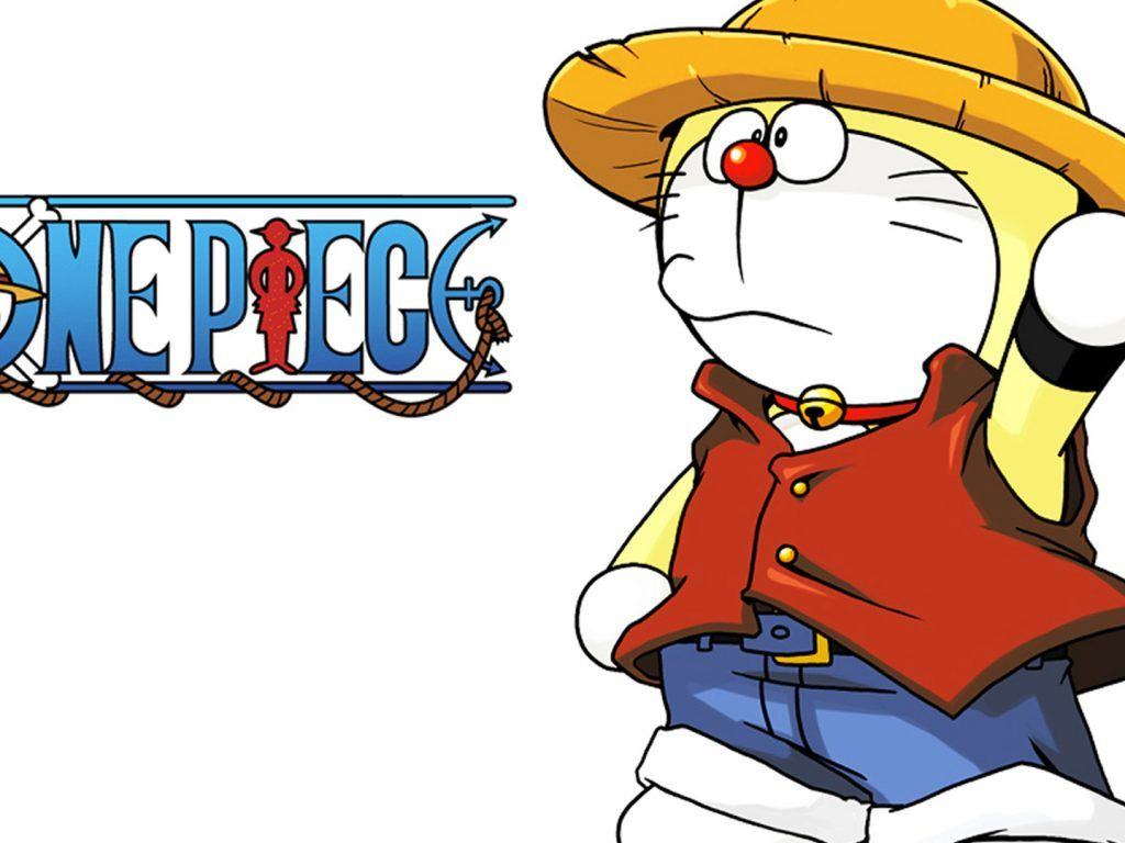 Hình nền 1024x768 Doraemon - Doraemon One Piece - Hình nền HD