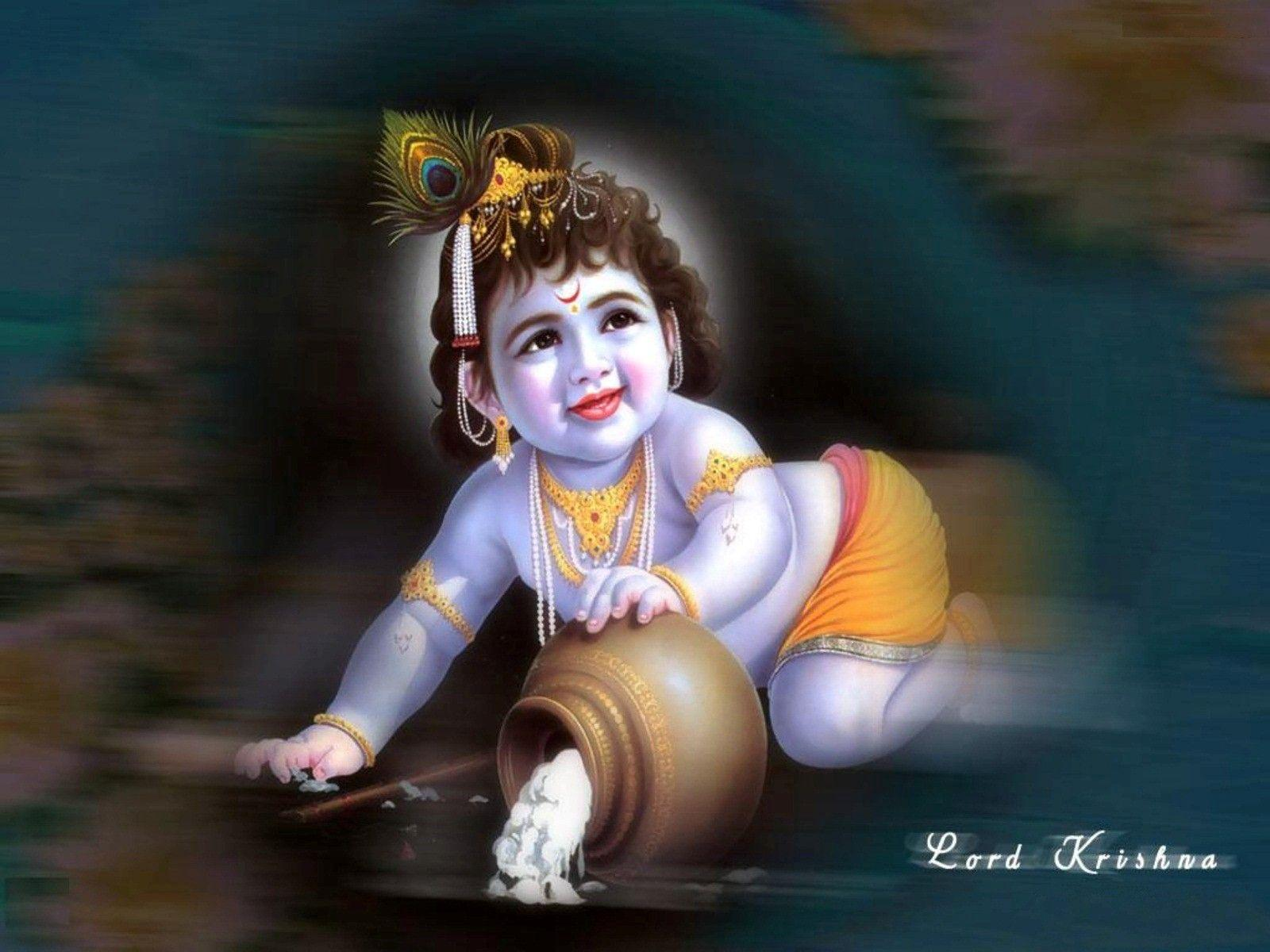 Bal Krishna Wallpapers Top Free Bal Krishna Backgrounds Wallpaperaccess
