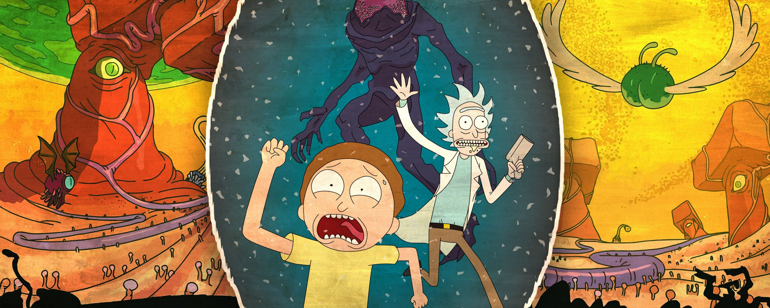 Rick And Morty Dual Screen Wallpapers Top Free Rick And Morty