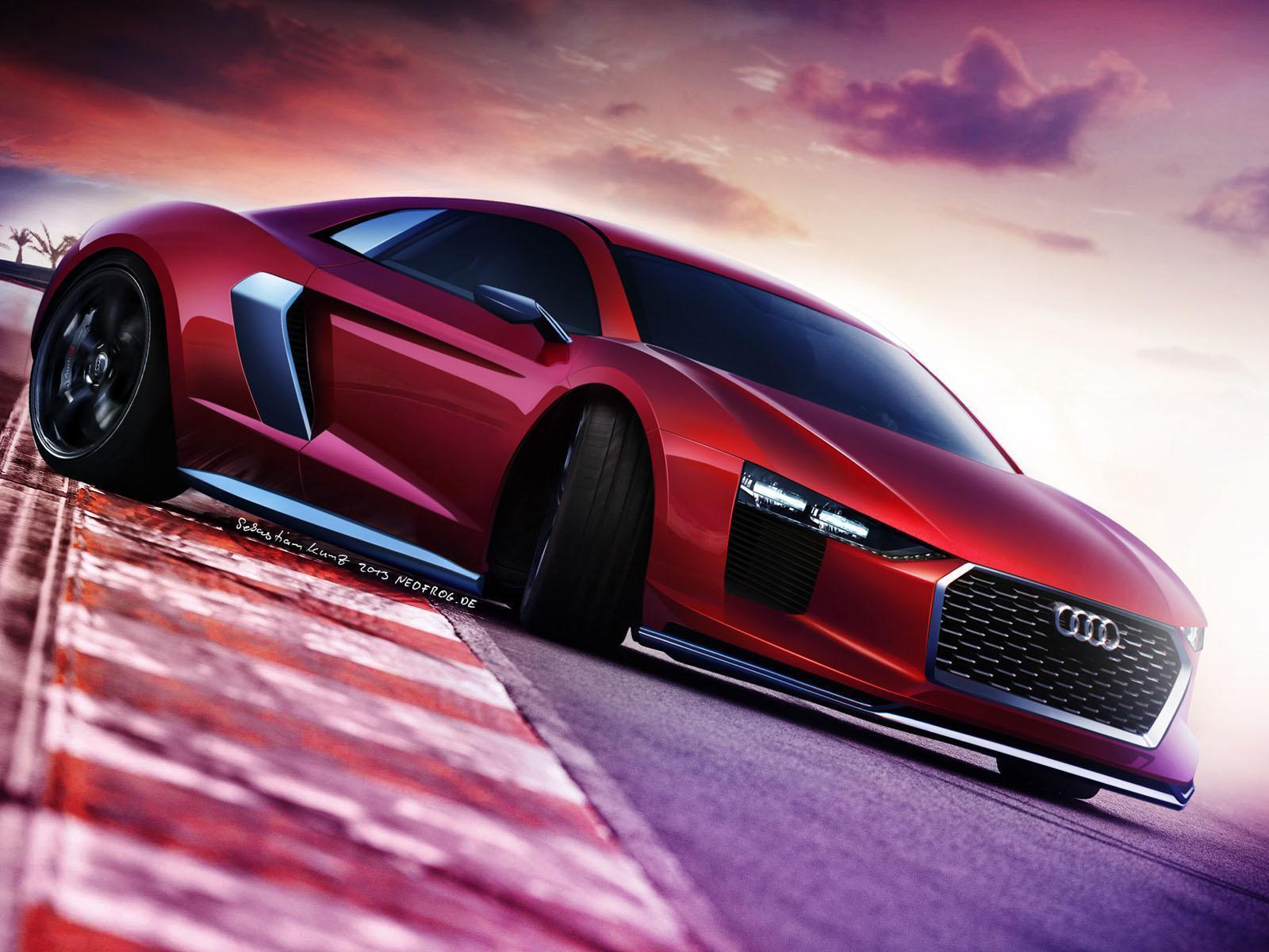 Audi R8 Red Wallpapers Top Free Audi R8 Red Backgrounds Wallpaperaccess