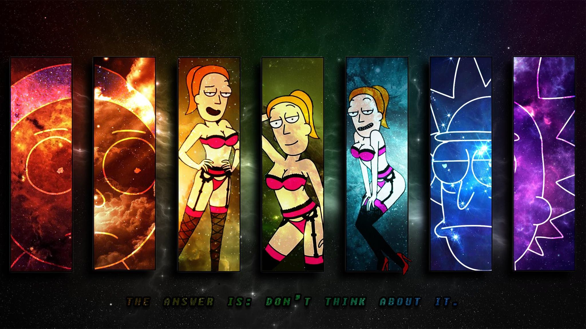 42 Best Free Rick And Morty Dual Screen Wallpapers