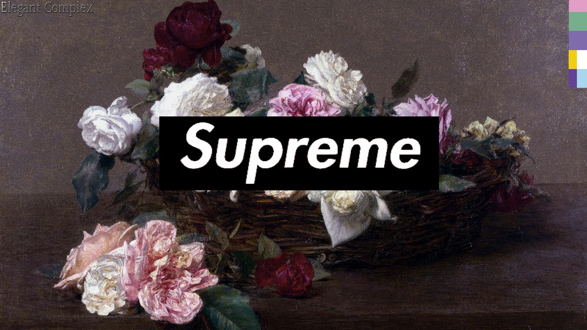 Supreme Floral Desktop Wallpapers Top Free Supreme Floral