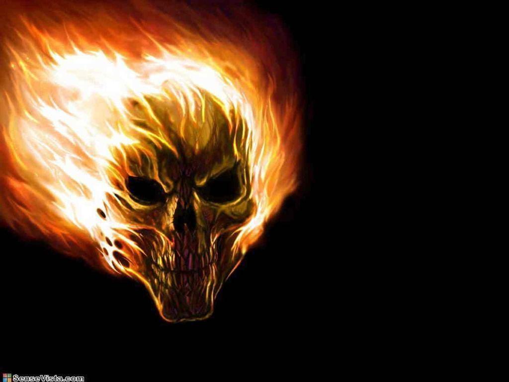 1024x768 Bức tranh Ngọn lửa.  Đây là ngọn lửa đầu lâu lửa nguy hiểm