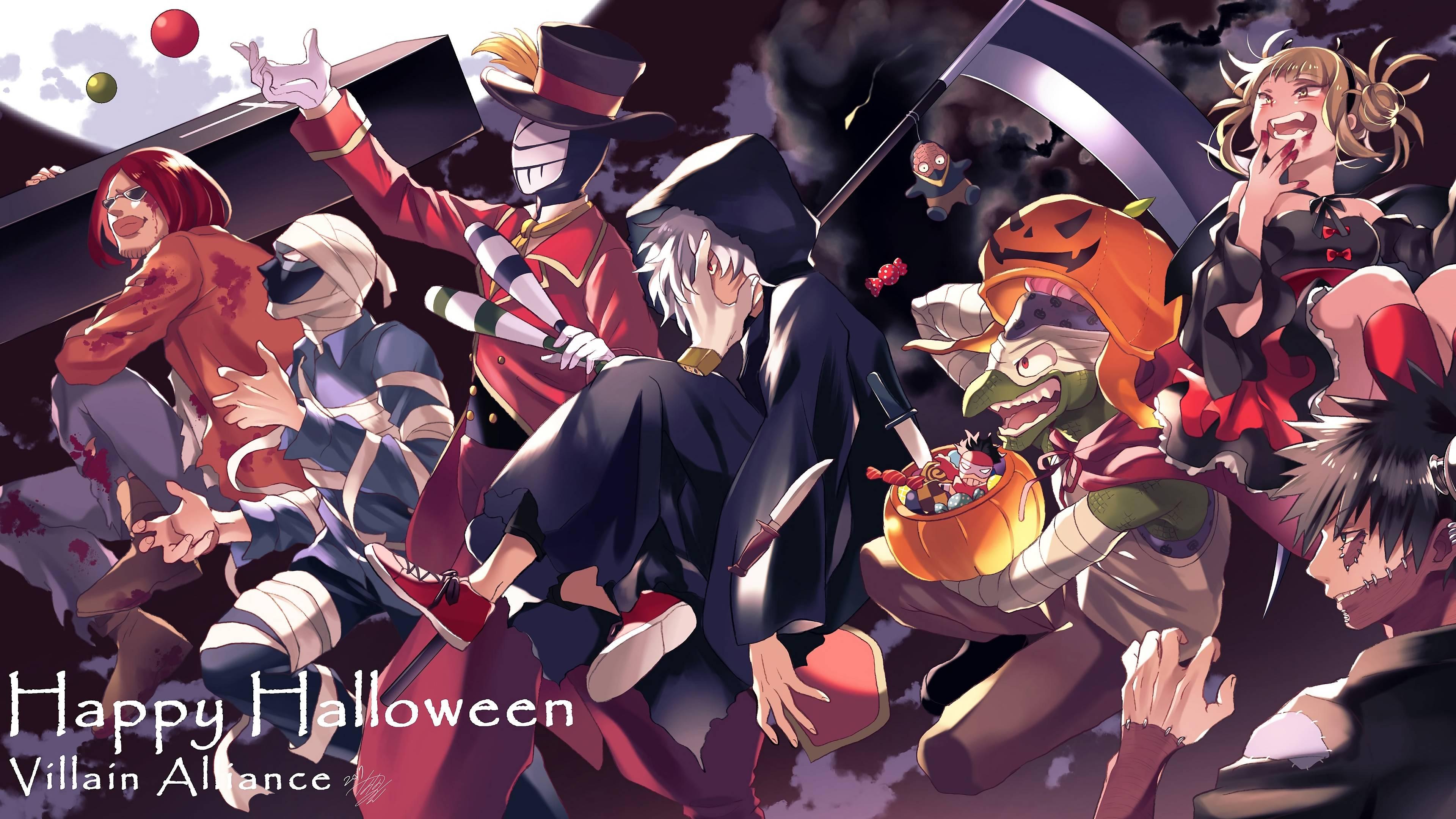 3840x2160 My Hero Academia League of Villains Vanguard Action Squad Happy