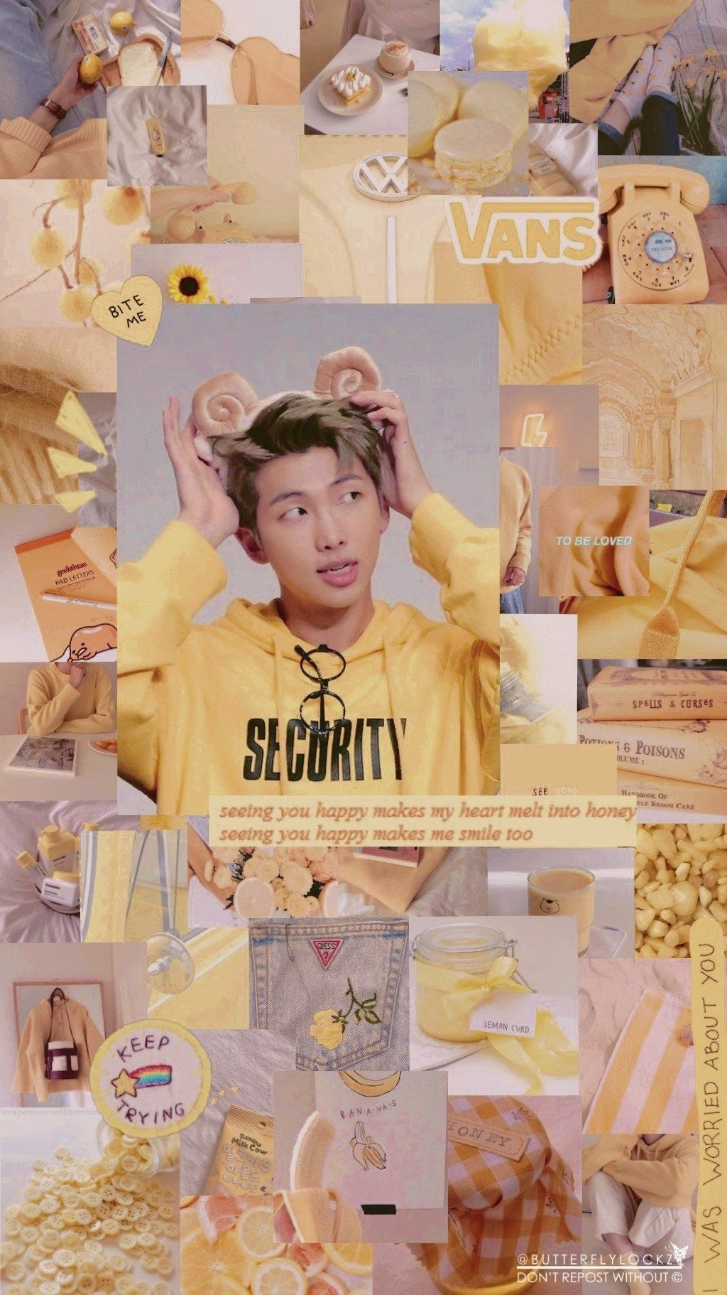 Bts Yellow Aesthetic Wallpapers Top Free Bts Yellow Aesthetic