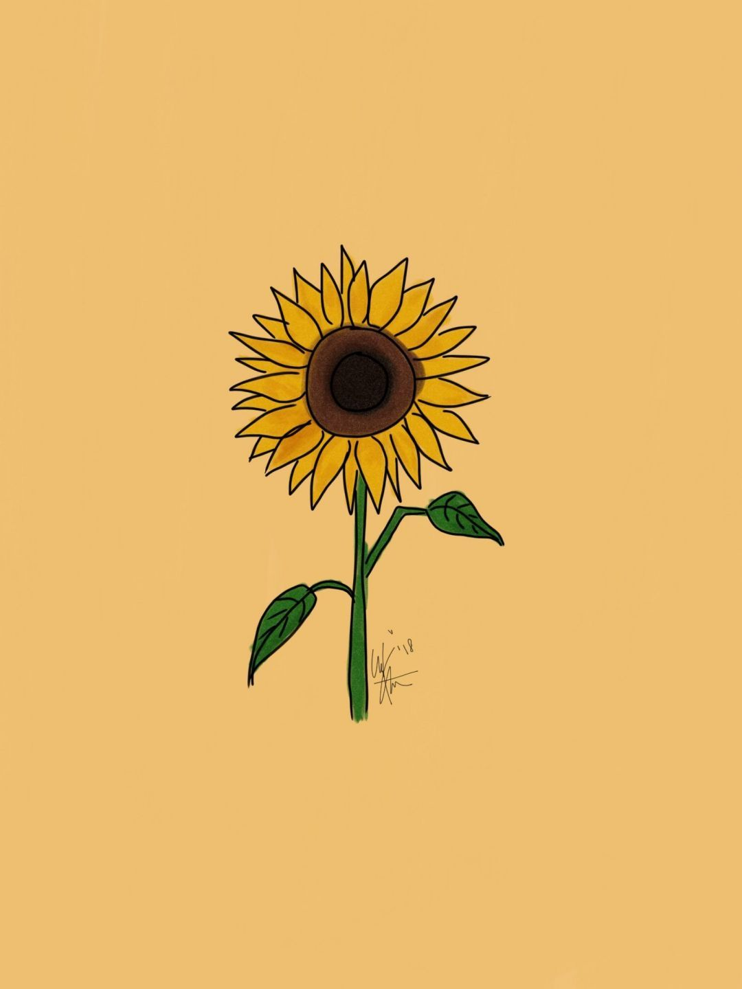 Yellow Sunflower Aesthetic Wallpapers Top Free Yellow Sunflower Aesthetic Backgrounds Wallpaperaccess
