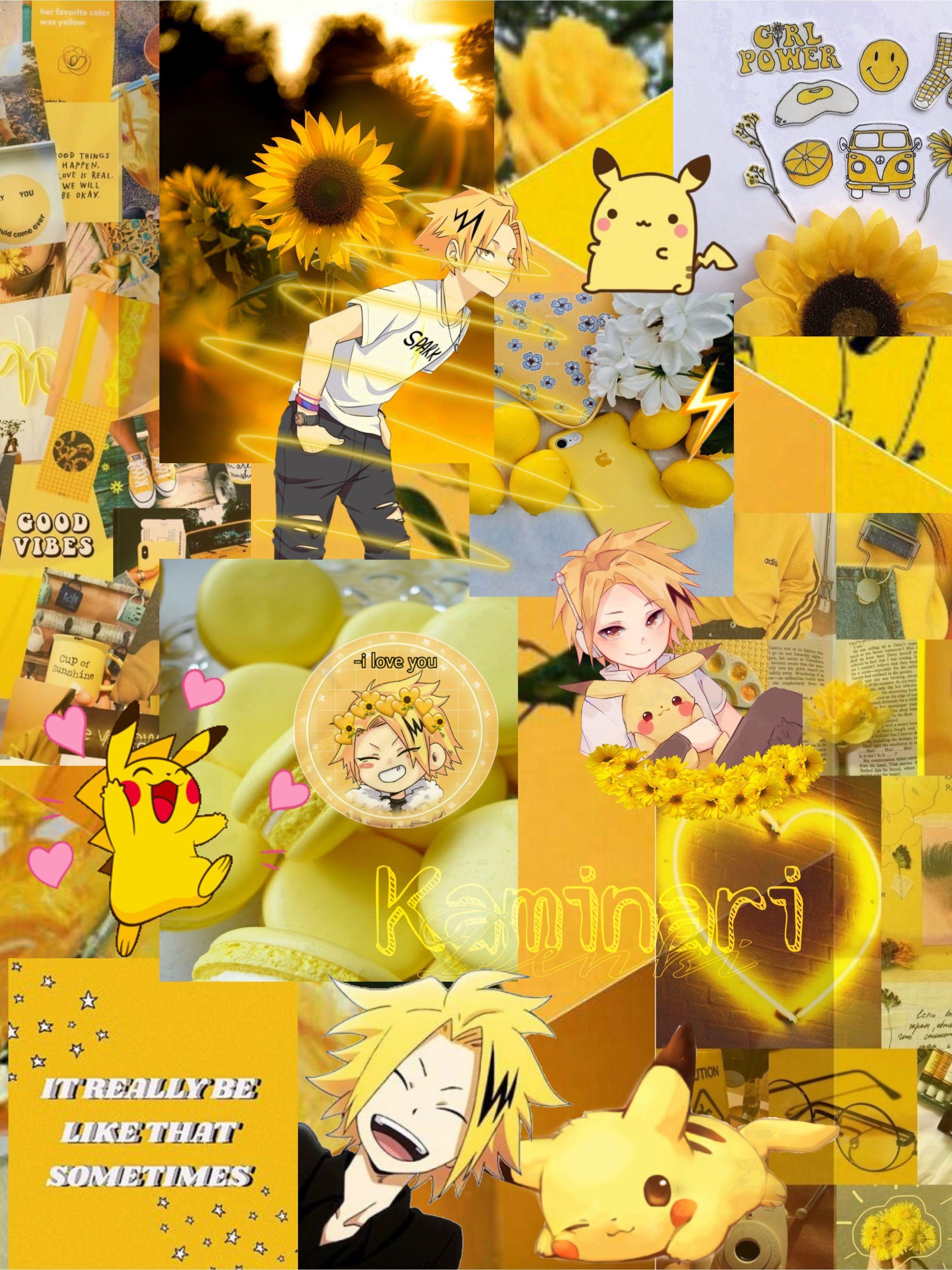 anime wallpaper hd wallpaper scenery yellow anime aesthetic