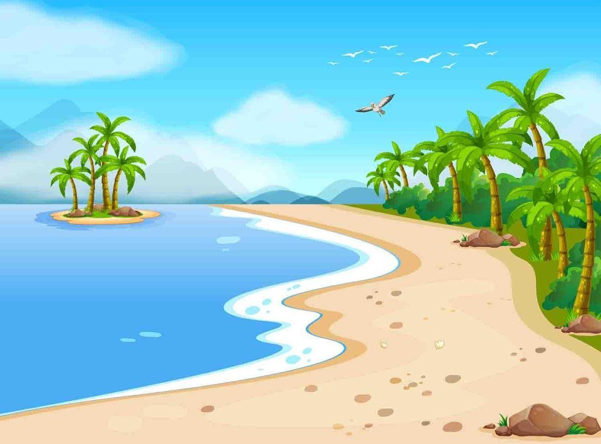 Cartoon Beach Wallpaper: Top Free Cartoon Backgrounds