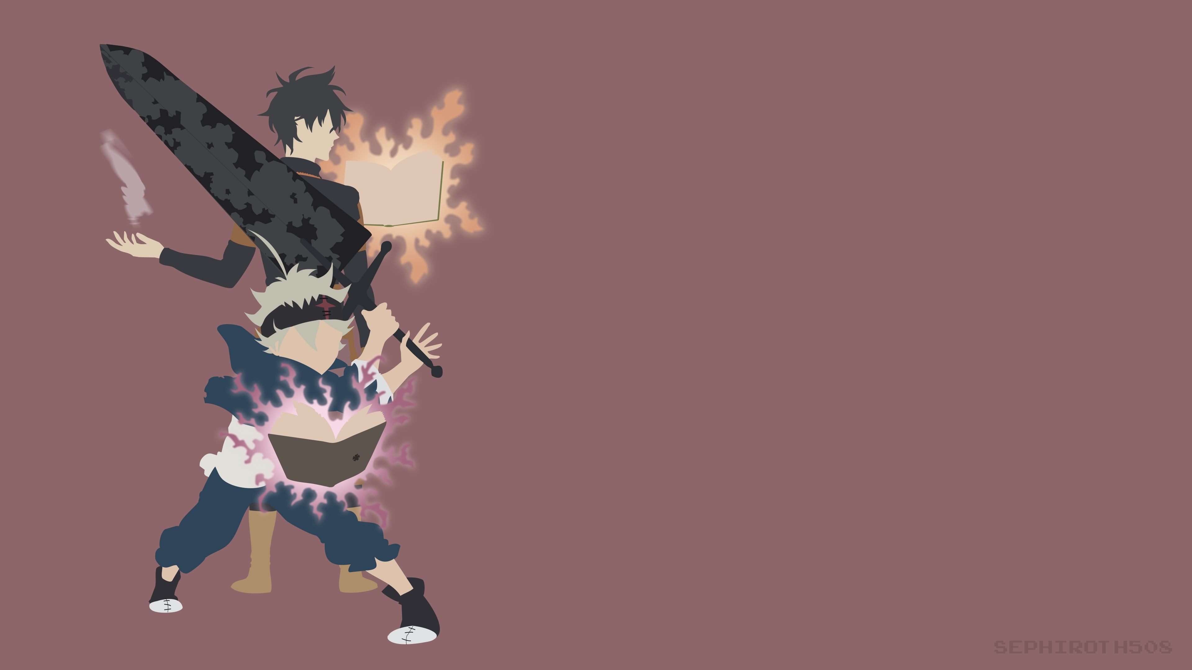 Minimalist Black Clover Wallpapers Top Free Minimalist Black Clover Backgrounds Wallpaperaccess