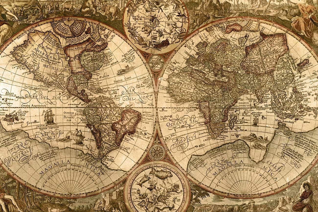 Vintage World Map Wallpapers Top Free Vintage World Map Backgrounds Wallpaperaccess