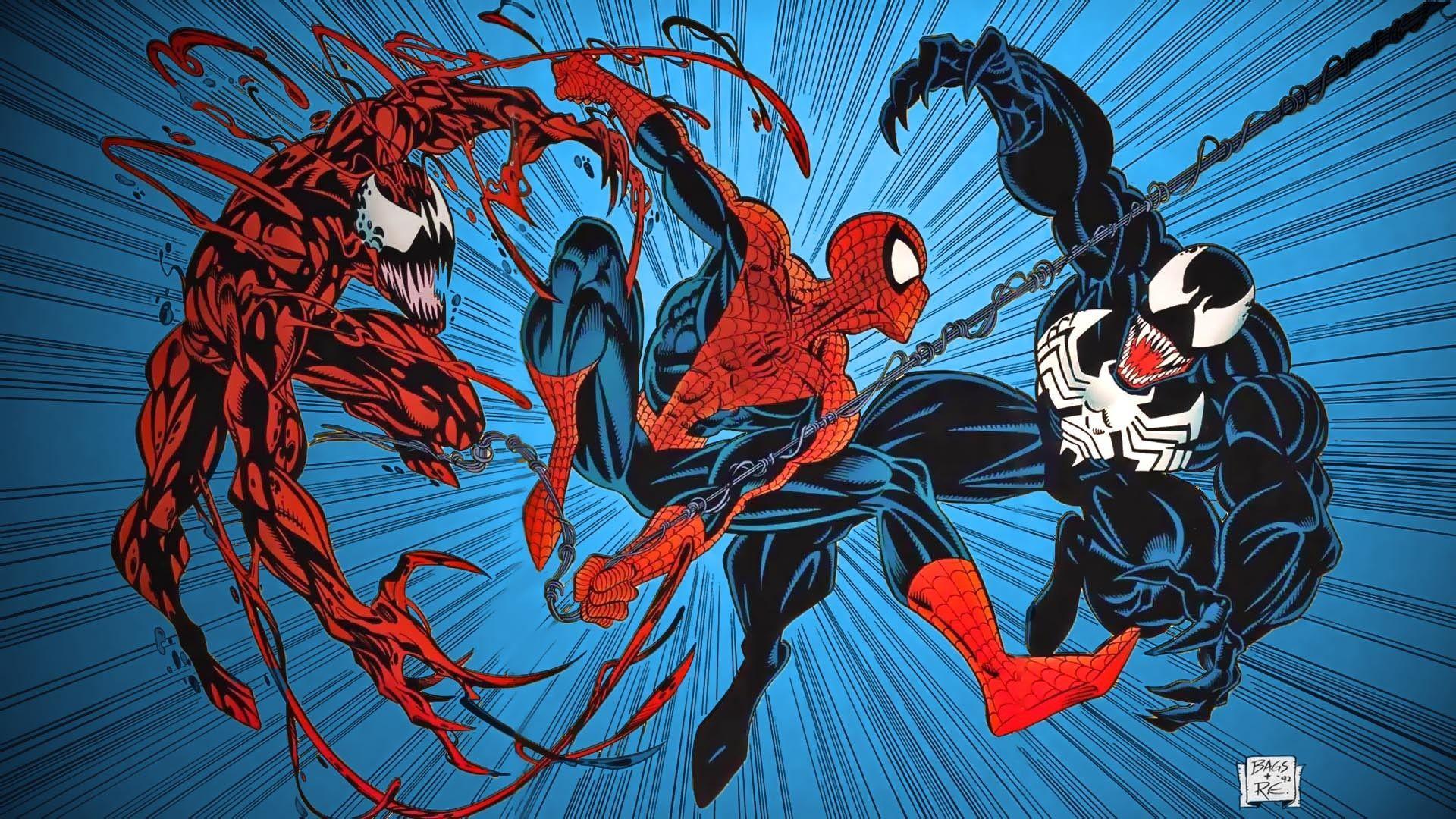 Venom And Carnage Hd Wallpaper - Vote Wallpaper