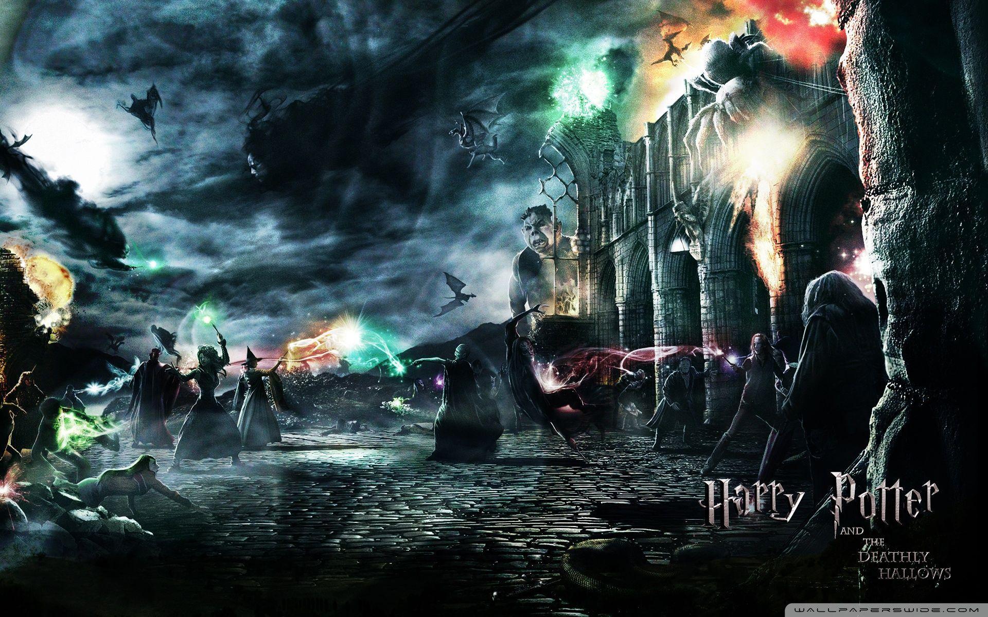 1920x1200 Three Harry Potter Villain Characters Poster Hd Wallpaper