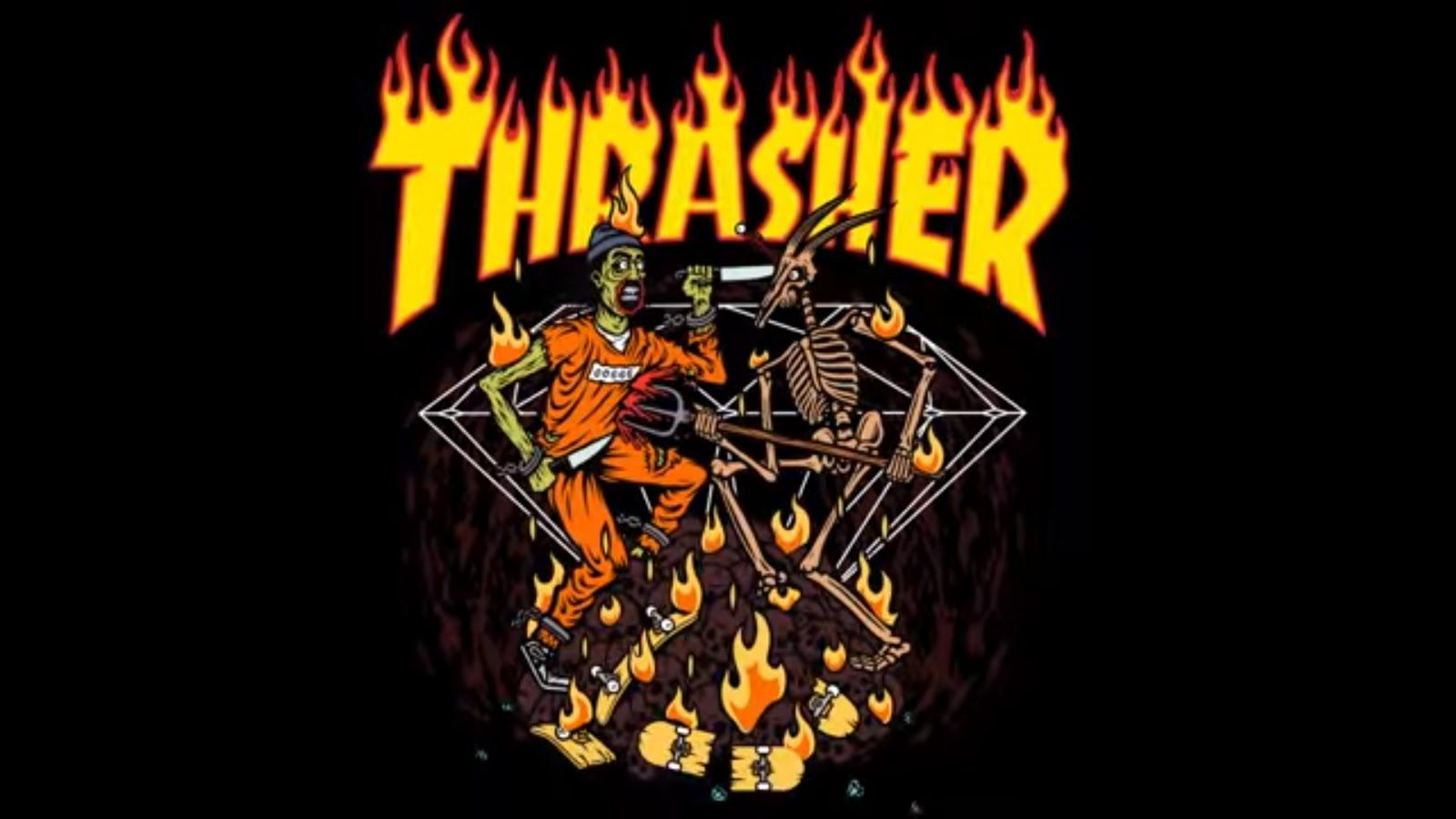 Thrasher Wallpapers Top Free Thrasher Backgrounds Wallpaperaccess