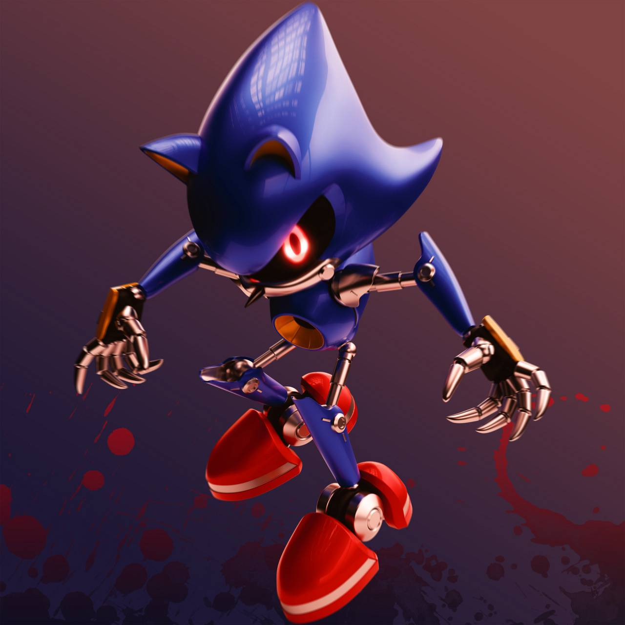 Metal Sonic Wallpapers Top Free Metal Sonic Backgrounds Wallpaperaccess