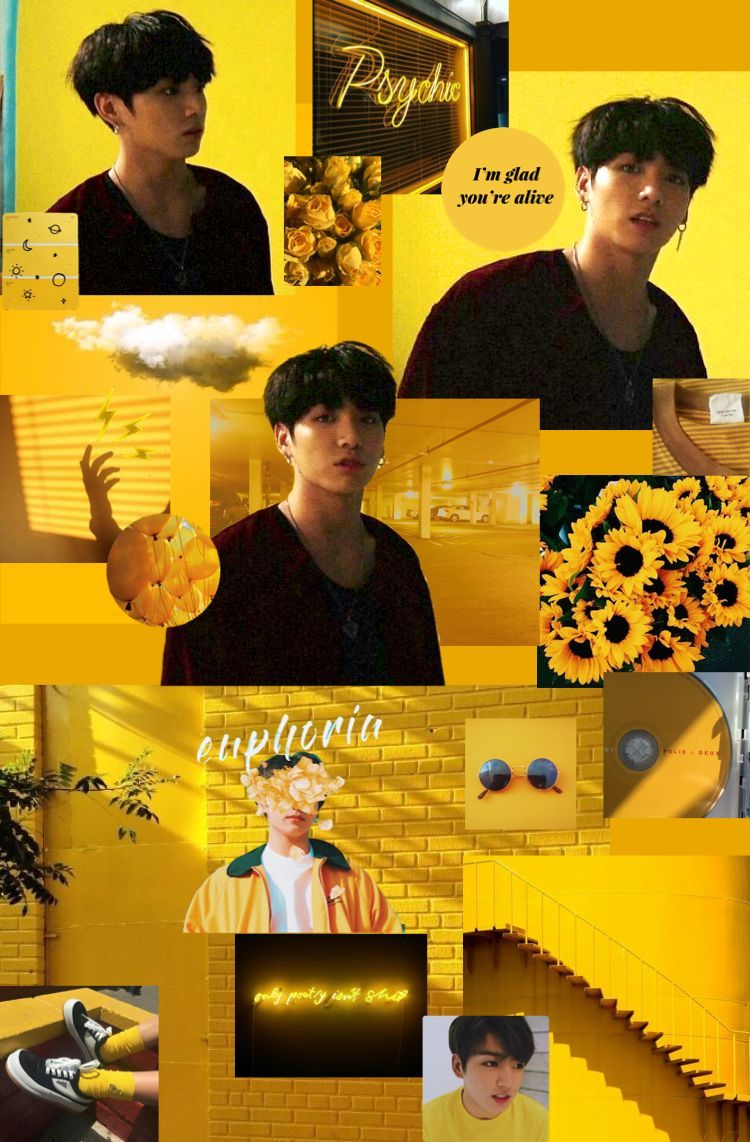 Bts Yellow Aesthetic Wallpapers Top Free Bts Yellow Aesthetic Backgrounds Wallpaperaccess