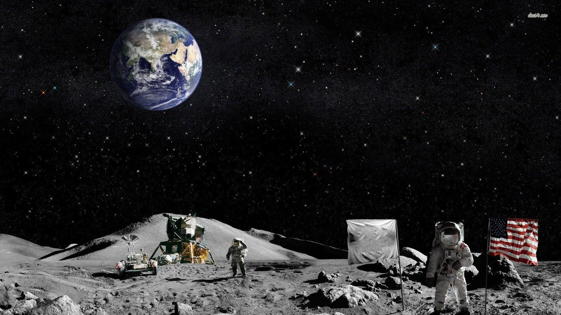 Astronaut On Moon Wallpapers Top Free Astronaut On Moon