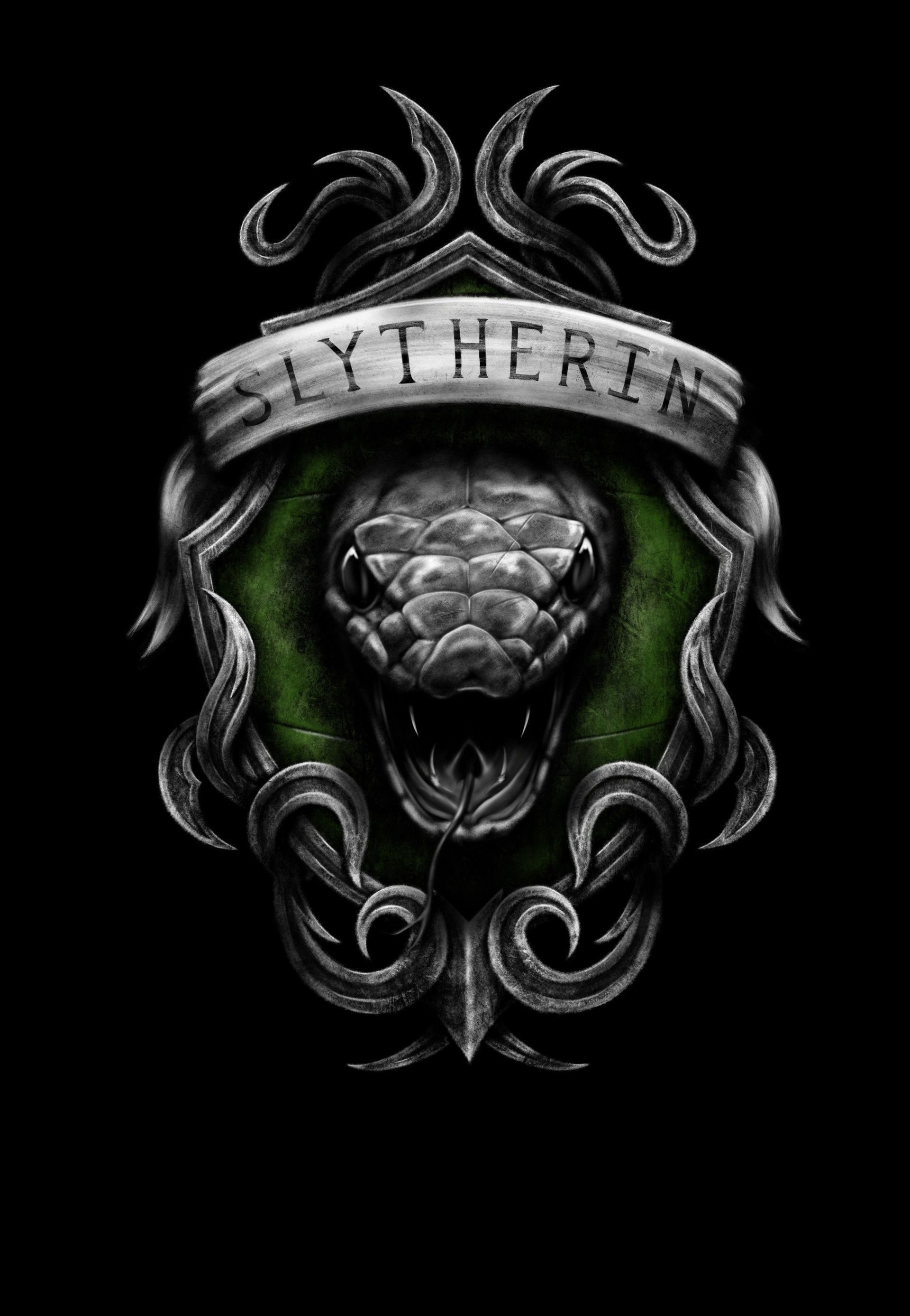 Slytherin Phone Wallpapers Top Free Slytherin Phone Backgrounds Wallpaperaccess
