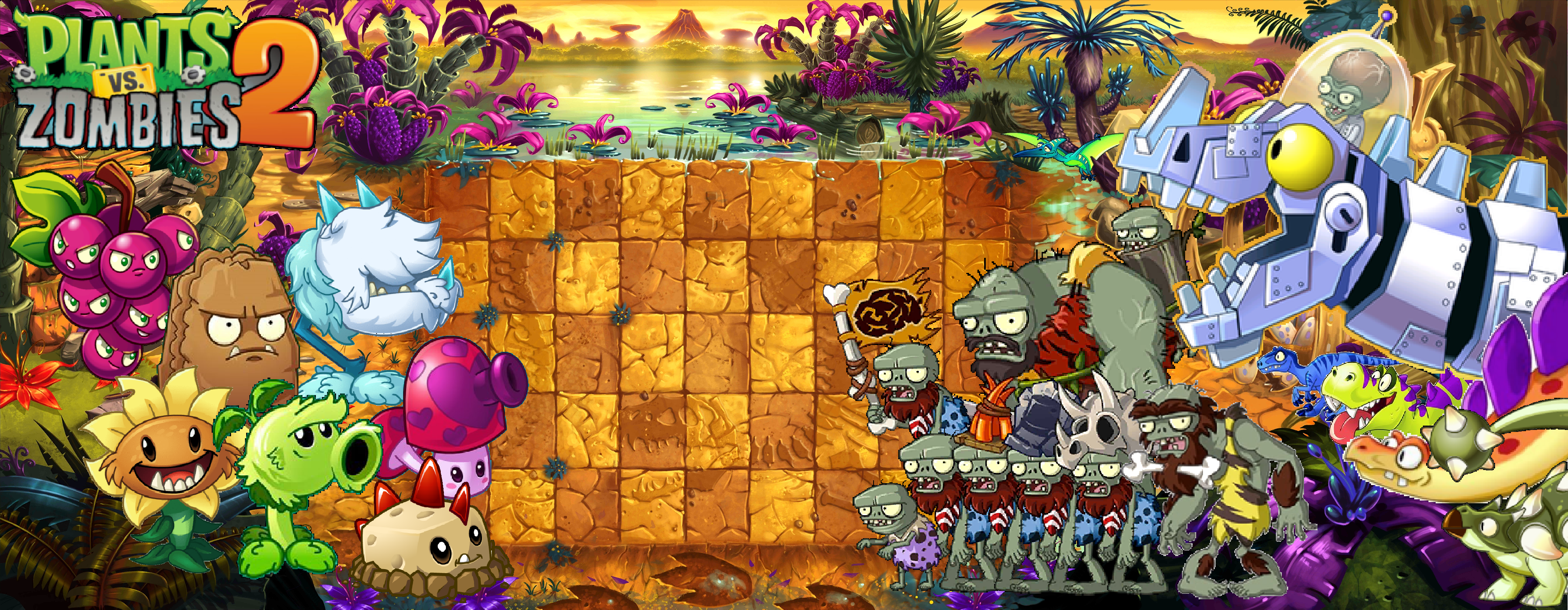 Plants Vs Zombies 2 Wallpapers Top Free Plants Vs Zombies 2