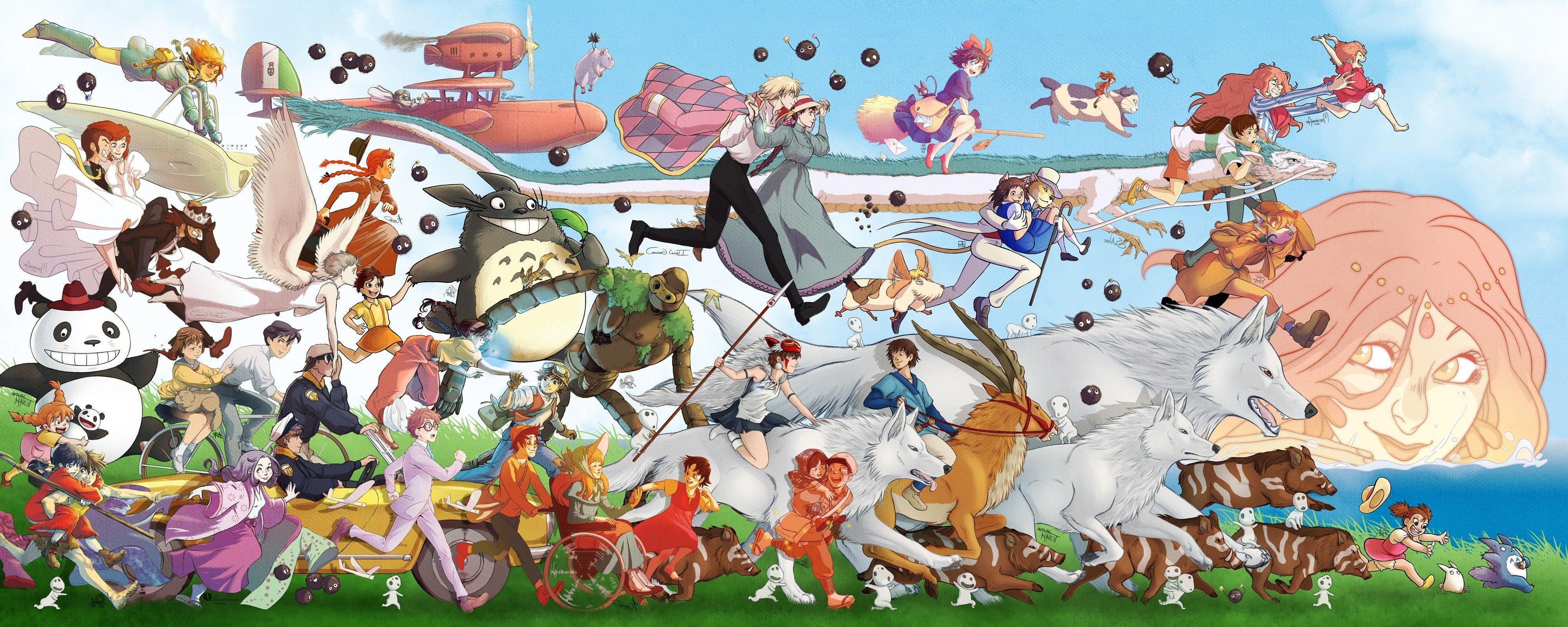 Studio Ghibli Characters Wallpapers Top Free Studio Ghibli Characters Backgrounds Wallpaperaccess