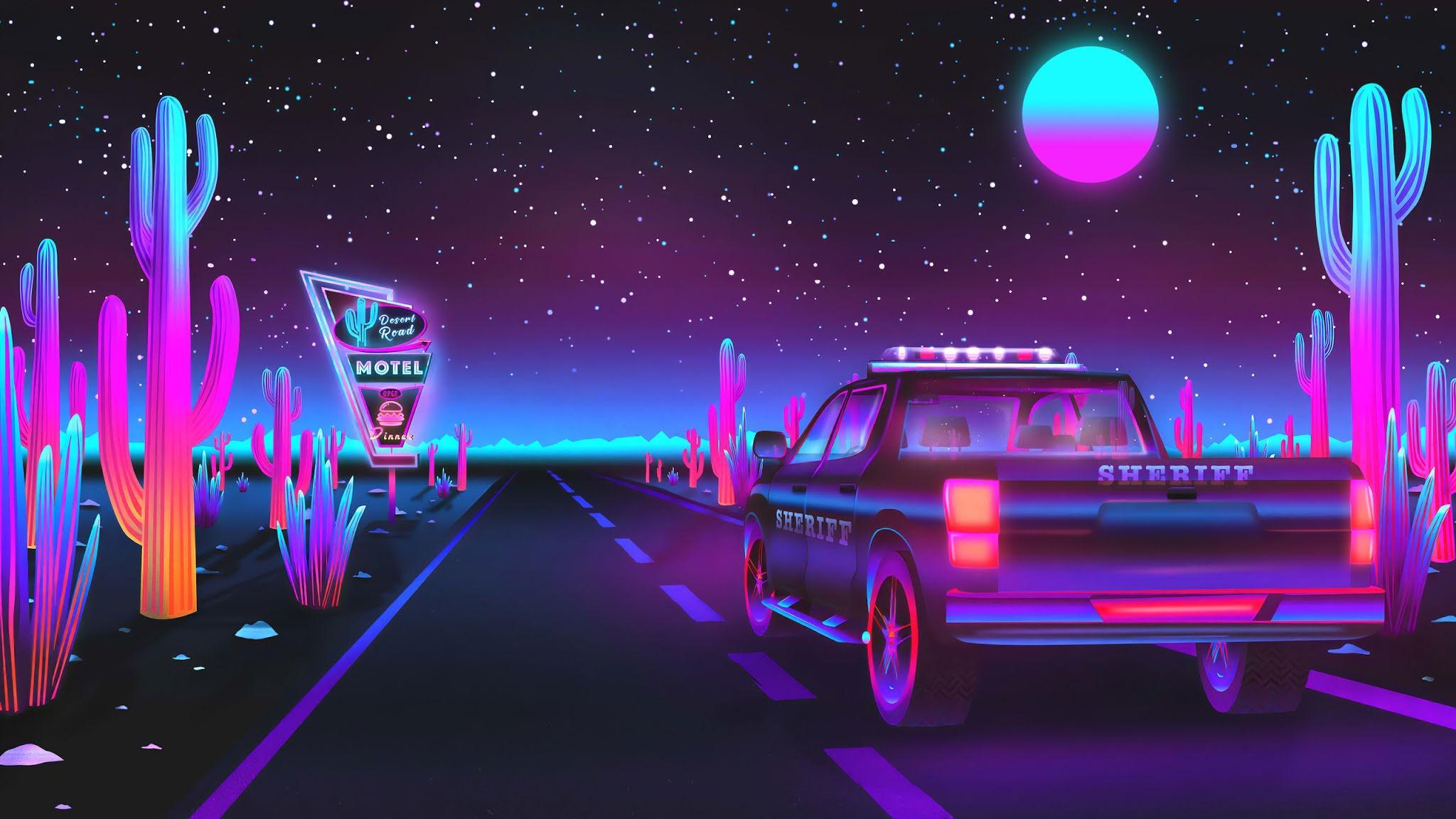 2048x1152 Sherift Retro Road hình nền
